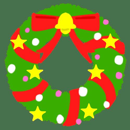 クリスマスリングのイラスト