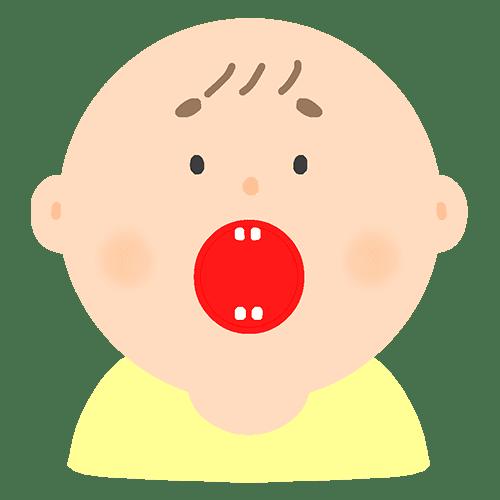 歯が生えている赤ちゃんのイラスト