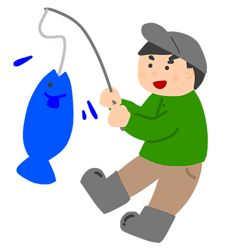 釣り人のイラスト