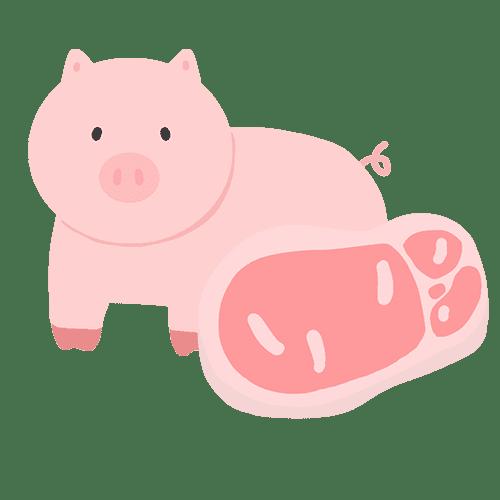 食用豚肉のイラスト