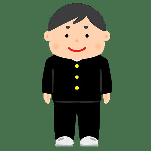学ランを着た男の子のイラスト