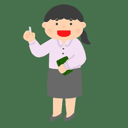 女性教師のイラスト