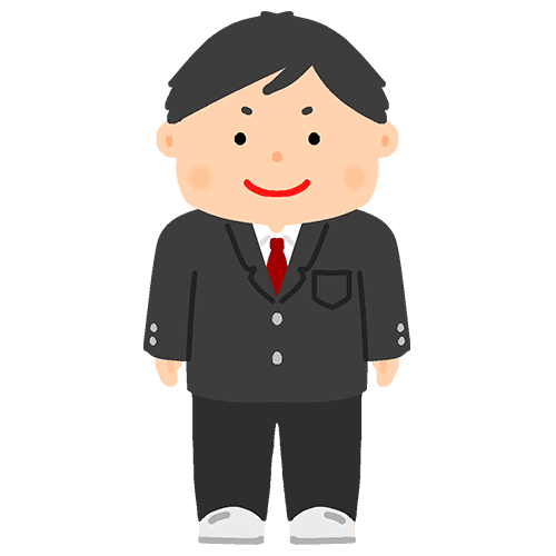 ブレザー学生服を着た男の子のイラスト
