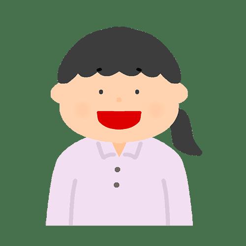 女性の喜怒哀楽のイラスト(笑顔)