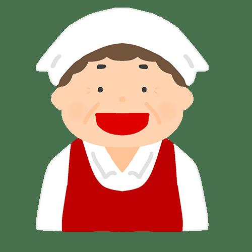 試食販売員の喜怒哀楽のイラスト(笑顔)