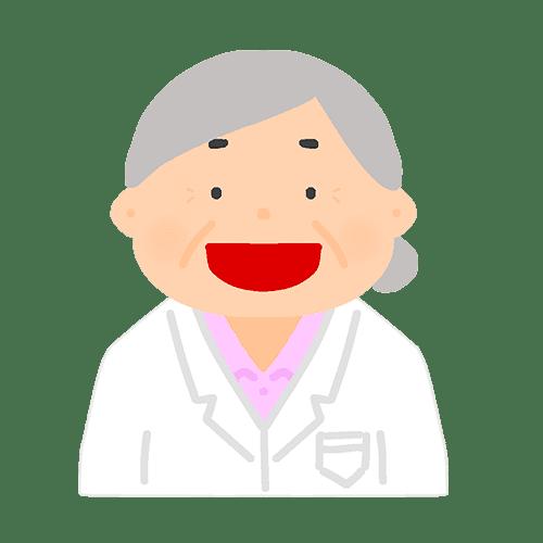 女医の喜怒哀楽のイラスト(笑顔)