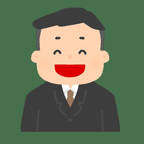 スーツを着た男性のイラスト2(笑顔)