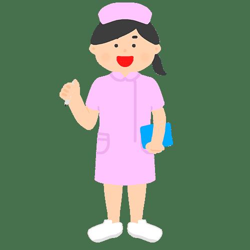 看護師のイラスト(ナースキャップ)