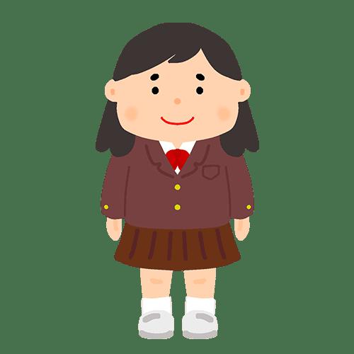 ブレザーを着た女子学生のイラスト