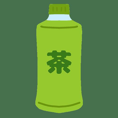 ペットボトル飲料(お茶)のイラスト