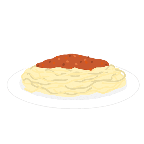 ミートスパゲッティのイラスト