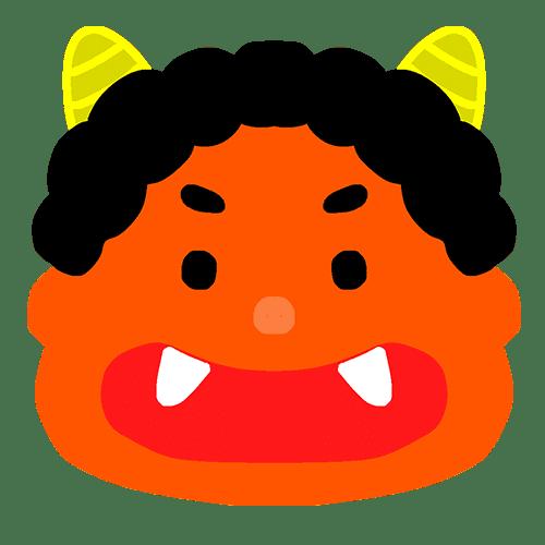 赤鬼のイラスト